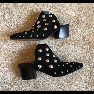 OFFERS WELCOME. Topshop Black studded booties
